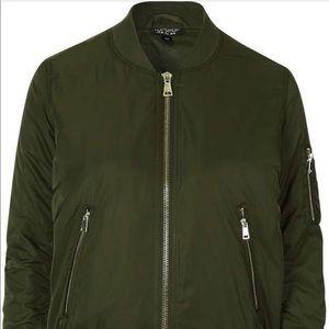 Women's Topshop Green Bomber Jacket